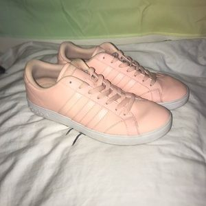 Solid Pink Adidas Sneakers